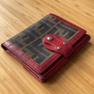 Red Fendi Zucca Wallet